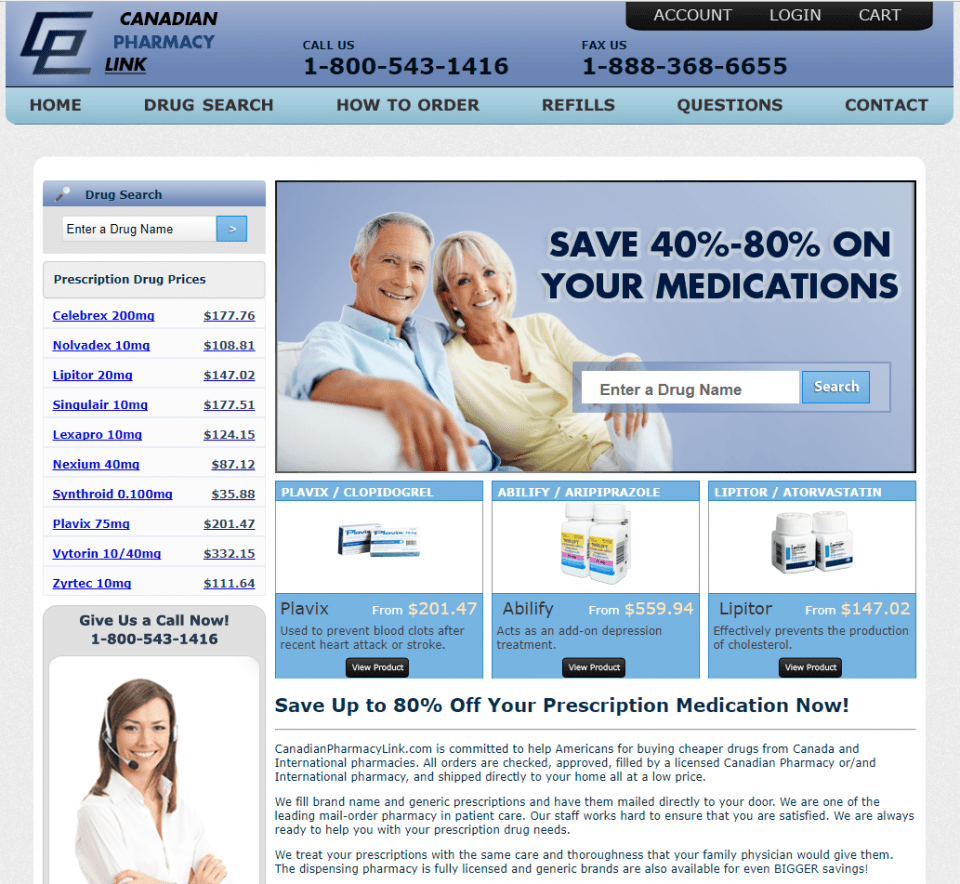 Canadianpharmacylink.com Review – Online Pharmacy with Poor Support Team