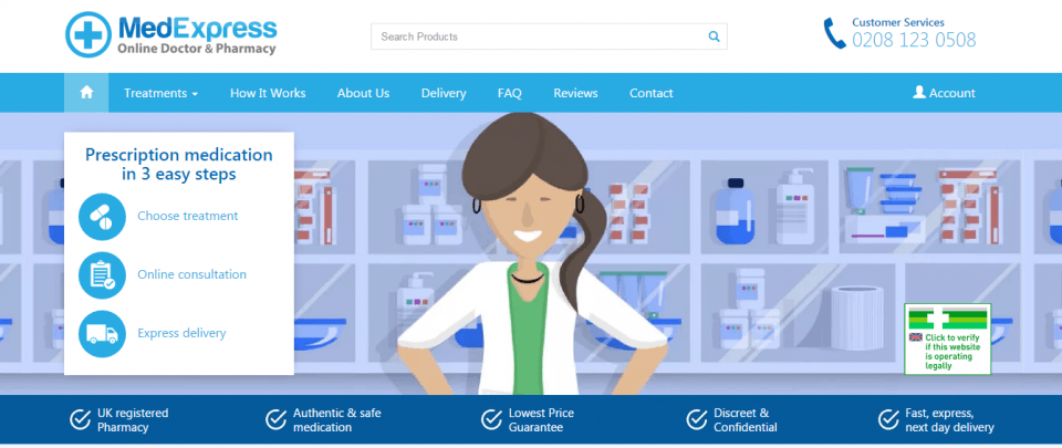 Medexpress.co.uk Review – Reliable British Pharmacy For European Customers Only