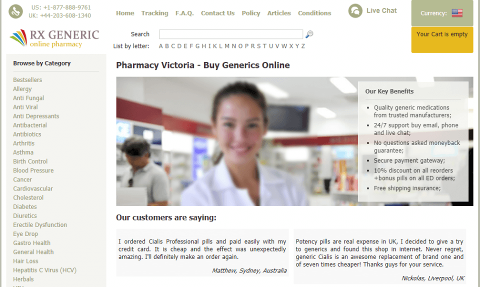 Pharmacyvictoria.com Review – A Suspicious Online Pharmacy Operating in China