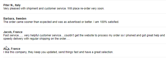 Online Rx User Feedback